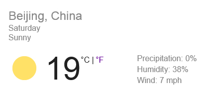 beijing weather