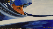 Painting of Simona de Silvestro, based on a photo by @shivyF1