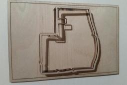 Laser cut Beijing ePrix circuit